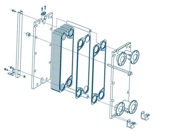 Теплообменник пластинчатый одноходовый количество пластин 20 площадь поверхности 0 46 теплообменники danfoss программа подбора